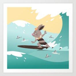 RIA - Surfing Hina Art Print