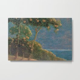 Classical masterpiece Sunset in Liguria by Geotano Previati, 1912 Metal Print