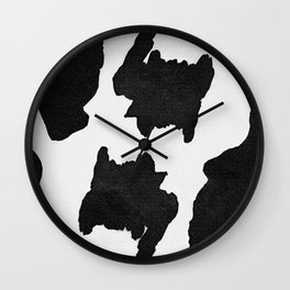 Cow stain pattern, cow fur Wall Clock