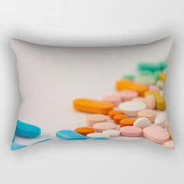 Drugs in the form of colored medicines. Rectangular Pillow