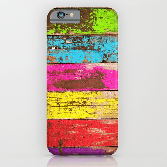 Vintage Colored Wood iPhone & iPod Case