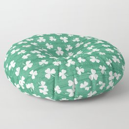 DANCING SHAMROCKS on green Floor Pillow