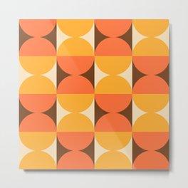 Mid Century Modern Geometric Abstract Pattern 727 Metal Print