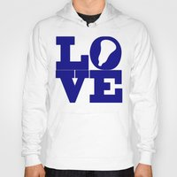 lacrosse Hoodies featuring Lacrosse Love Navy Blue by YouGotThat.com