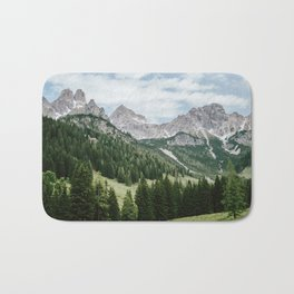 Austrian Alps Summer Landscape Bath Mat