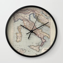 Bella Italia Vintage Map Of Italy Wall Clock