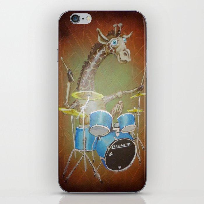 Giraffe Playing Drums iPhone Skin