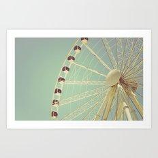 The Sky Wheel Art Print
