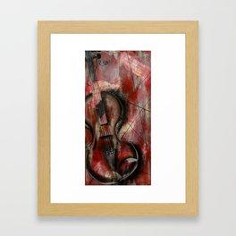 The Stroke of Music Framed Art Print