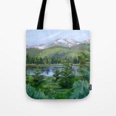 Echo Mountain Lake Tote Bag