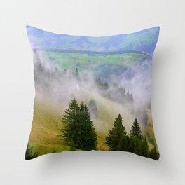 Up the Mountain Throw Pillow