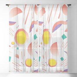 MIAMI SUBS MARTINI Sheer Curtain