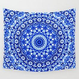 Blue Mandala Mehndi Style G403 Wall Tapestry