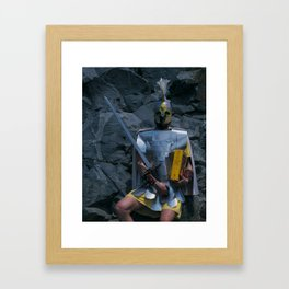 The Man of Swords Framed Art Print