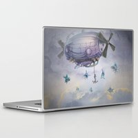 fishing Laptop & iPad Skins featuring Fishing by Costin Diana