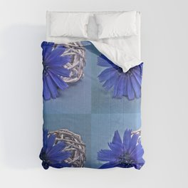 Still life with chicory flower Comforters