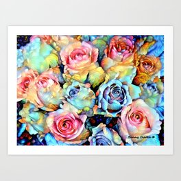 For Love of Roses Art Print