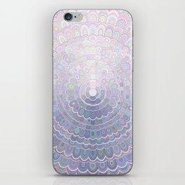 Pale Flower Mandala iPhone Skin
