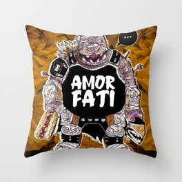 Armored Fatty Throw Pillow