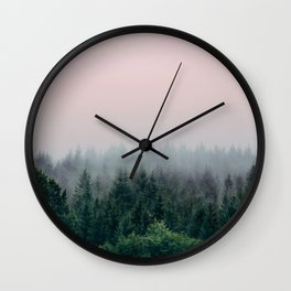 Forest in Pink Wall Clock