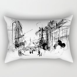 Alchemy Sketch - City Rectangular Pillow