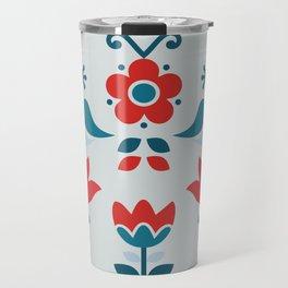Retro Nordic Folk Travel Mug