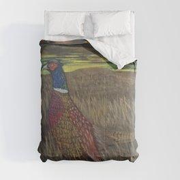 Rooster Pheasant at Sundown Comforters