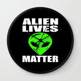 Alien UFO Extraterrestrial Motif Wall Clock