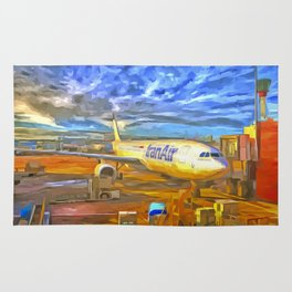 Iran Air Airbus A330 Pop Art Rug