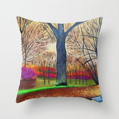 Wonderful colors of fall Throw Pillow
