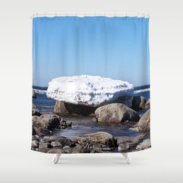 Perched on the Boulders Shower Curtain