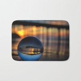 Avila Pier Captured in a crystal ball at sunrise Bath Mat