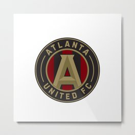 ATLANTA UNITED FC Logo Metal Print