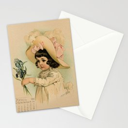 French Girl Maud Humphrey Stationery Cards