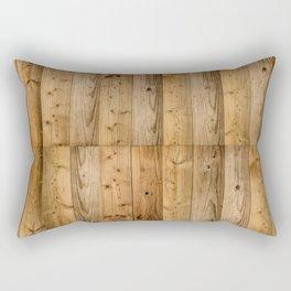 Wood Planks Dark Rectangular Pillow