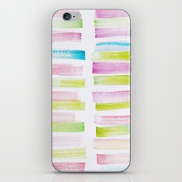 21  | 181101 Watercolour Palette Abstract Art | Lines | Stripes | iPhone Skin