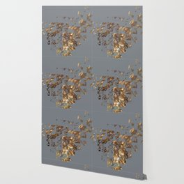 Bronze on Gray Square #abstract #society6 #decor #geometry Wallpaper