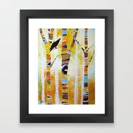 Raven Hanging the Sun Framed Art Print