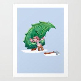 Enemies hug IV Art Print