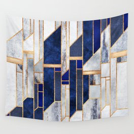 Blue Winter Sky Wall Tapestry