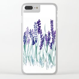 Larkspurs Clear iPhone Case