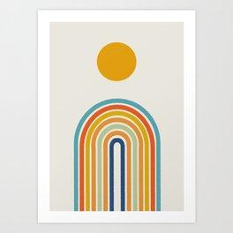 Bohemian Rainbow Art, Arch Poster Art Print