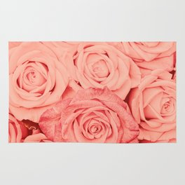 Some People Grumble - Living Coral Roses Rug