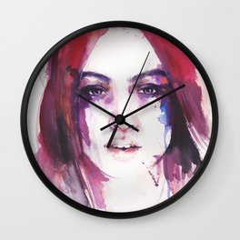 A girl from the other side of the street Wall Clock