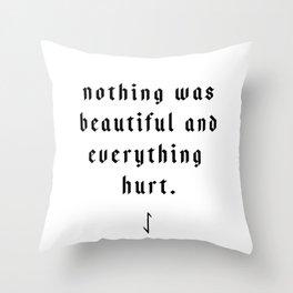 The Pessimist Throw Pillow