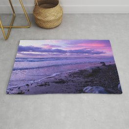 Scenic ocean sunset in Carlsbad California Rug