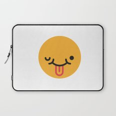Emojis: Crazy face Laptop Sleeve