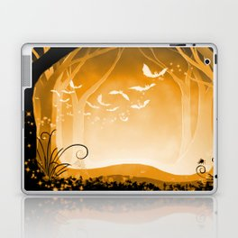 Dark Forest at Dawn in Amber Laptop & iPad Skin