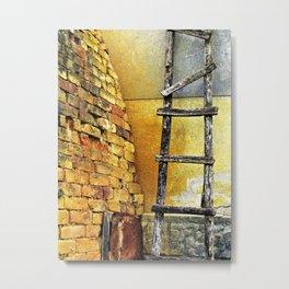 Old Yellow Bricks Metal Print
