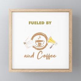 Filmmaking Coffee Shirt Funny Filmmaker Coffee Lover Gift T-Shirt Framed Mini Art Print